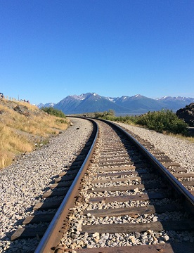Alaska Railroad along the Turnagain Arm